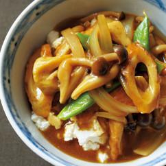 豆腐の小どんぶり 和風カレー丼