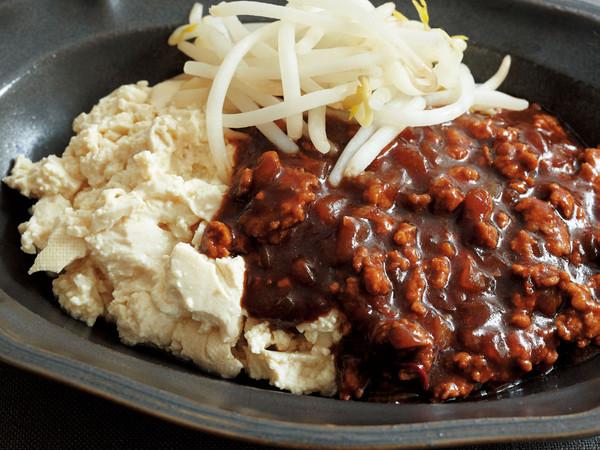 豆腐の小どんぶり 韓国風ミートソース丼