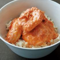 豆腐の小どんぶり えびクリーム丼