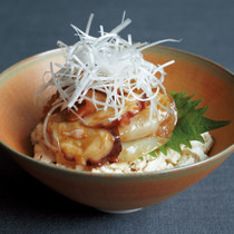 豆腐の小どんぶり 海鮮づけ丼