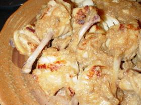 ◎鶏手羽元のおろし玉ねぎにんにく焼き