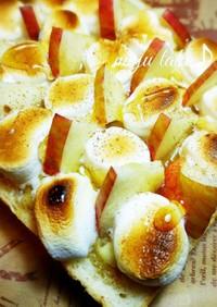 シナモン香る林檎とマシュマロトースト♪
