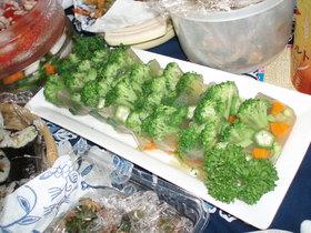 野菜DEテリーヌ(野菜のゼリー寄せ)