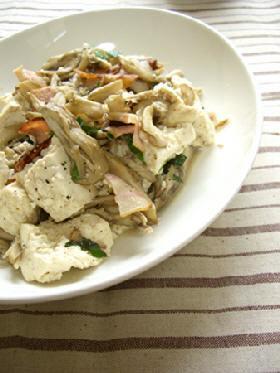 お豆腐と舞茸の香り炒め