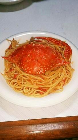 ワタリガニのトマトクリームスパゲティ