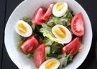 卵のゆで時間が決めて!彩りサラダ