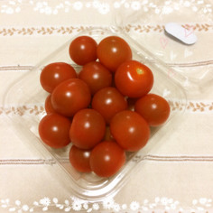 たったこれだけ♪プチトマトの保存♪