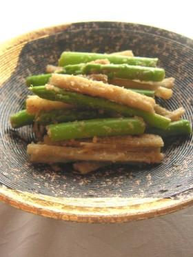 たたきごぼうとアスパラのサラダ