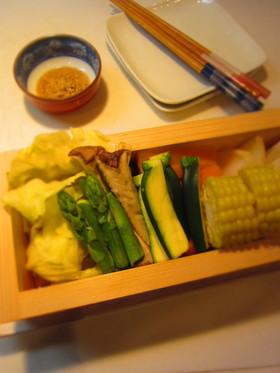 シンプル蒸し野菜