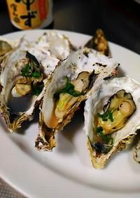 殻付き牡蠣de蒸し牡蠣
