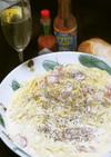 チーズと牛乳生クリームで濃厚カルボナーラ