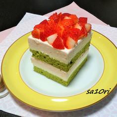 ひなまつりに!3色ひし餅風ムースケーキ!