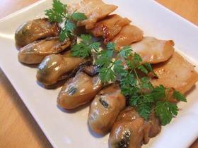 酒の肴に!牡蠣と鶏胸肉の味噌漬け焼き♪
