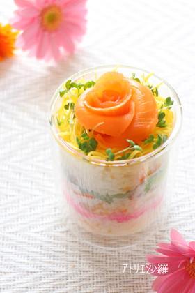 簡単♪混ぜるだけ✿ちらし寿司カップ✿