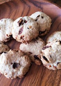 おいも家のそば粉とオートミールのクッキー