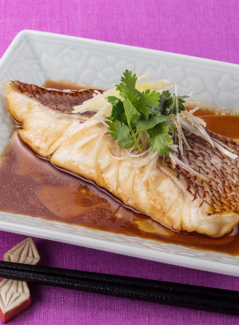レンジで簡単♪鯛の香味中華蒸し