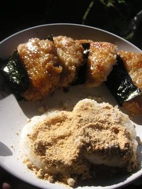 残りご飯で●砂糖しょうゆ海苔餅風●朝ご飯