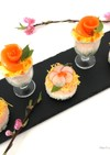 おひな祭りに♡カップ&ミニケーキ寿司