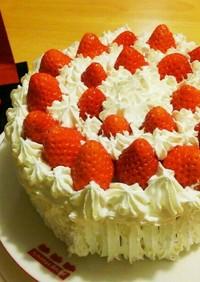 市販バームクーヘンで❤苺のショートケーキ