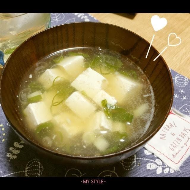 豆腐と生姜のあったかスープ