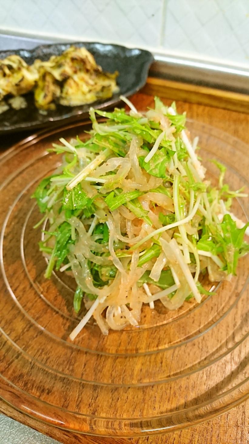 糸こんにゃくと水菜のサラダ・ダイエット?