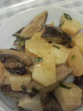 ジャガイモの味噌煮ごはん