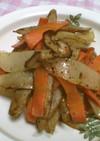 根菜の豚脂炒め