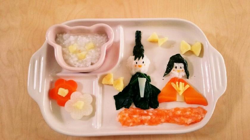 離乳食で簡単☆ひな祭りプレート