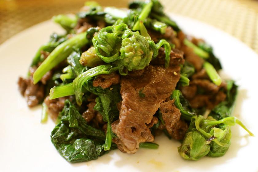 牛肉の春野菜炒め