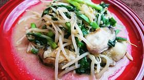 牡蠣ともやしの炒め物
