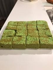 焼きっぱなしのケーキ5・グリーンの写真