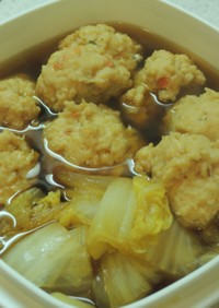 鶏つくねと白菜の煮物
