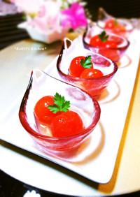 プチトマトの蜂蜜レモン漬け