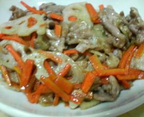 ■豚肉とれんこんのオイスターソース炒め■