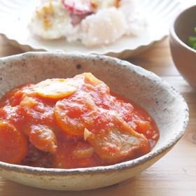 豚肉と金柑のトマト煮こみ