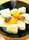 鶏肉団子と竹の子の炊合せ