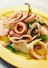 イカとカブと小松菜の簡単ガーリックグリル