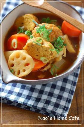 魚河岸あげ&根菜の和風カレースープ