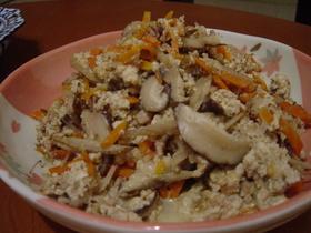 ウチのが一番!麺つゆ&すりゴマで炒り豆腐