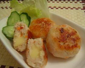 ★とろーりWチーズの鶏つくねハンバーグ★