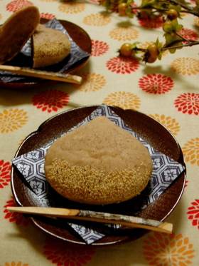 卵白消費*和風な栗の焼き菓子