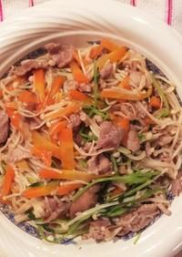 豚肉とエノキ茸の炒め物