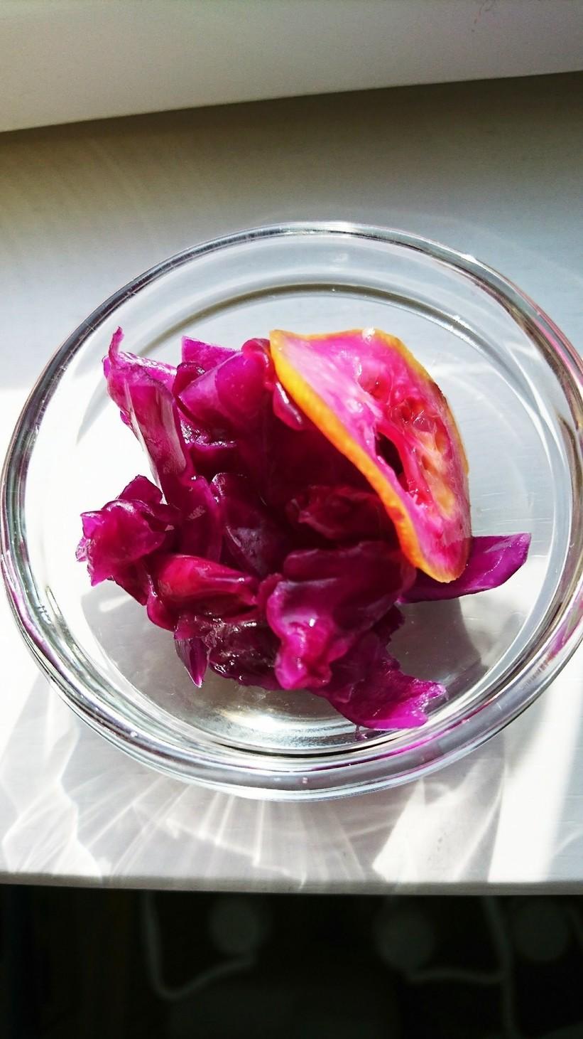 紫キャベツの浅漬け