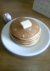 大豆粉とフスマ粉のパンケーキ
