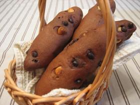 ○ ヘーゼルナッツとチョコのパン ○