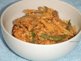 白菜キムチのおから炒り煮