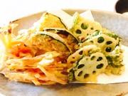 春先野菜の天ぷら盛りの写真