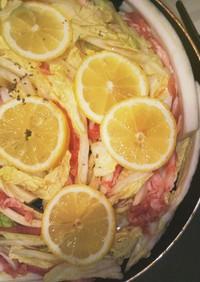 白菜と豚しゃぶポン酢のフライパン蒸し