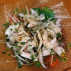 ブロッコリースプラウトとささみのサラダ