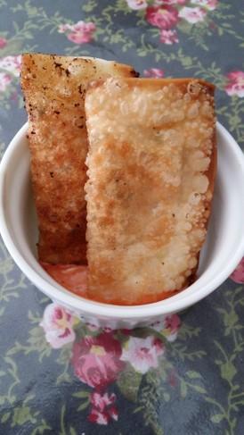 簡単&ヘルシー♪豆腐とチーズのしそ餃子♡